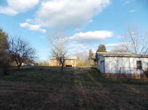 View of Back Yard and Out Building