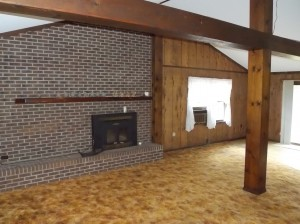 Large Den with Fire Place